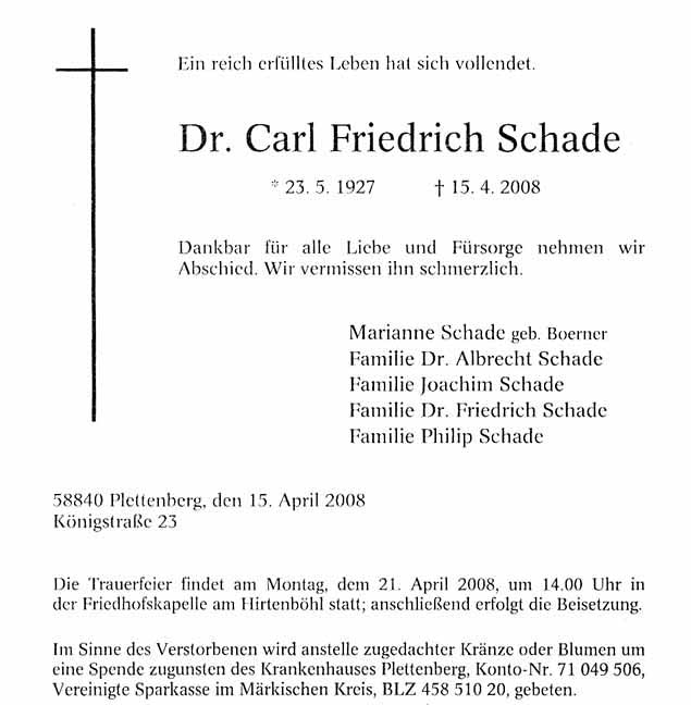 Brilliant Dr Carl Friedrich Fritz Schade Hairstyles For Women Draintrainus